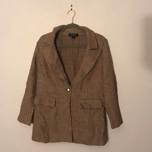 St. John Brown Knitted Blazer